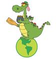 Dragon Leprechaun On A Globe