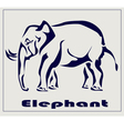 Elephant icon tattoo vector image