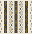 ethnic seamless pattern with geometric ornament vector image