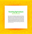 farming agriculture paper template vector image vector image