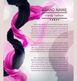 fashion banner with flying silk fabric vector image vector image