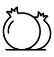 fresh pomegranate icon outline style vector image vector image