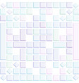 glossy soft colored 3d squares background vector image