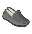 gray male shoes vector image vector image