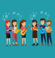group of persons in concert vector image