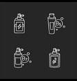hair oils chalk white icons set on black vector image vector image