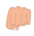 hand fist isolated icon design vector image vector image