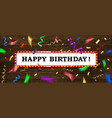 happy birthday card concept vector image vector image