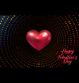 happy valentine s day holiday of vector image vector image