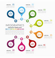infographic template used vector image vector image