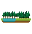 Isolated forest and river design vector image