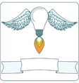 lightbulb with wings vector image vector image