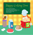 magic cooking time vector image vector image