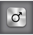 Male icon - metal app button vector image vector image