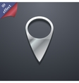 Map pointer icon symbol 3D style Trendy modern vector image vector image