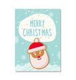 merry christmas greeting card gingerbread santa vector image vector image