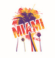 miami beach colorful graphic t-shirt design vector image vector image