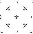 military fighter plane pattern seamless black vector image vector image
