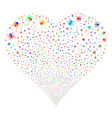 mite fireworks heart vector image vector image