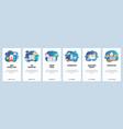 mobile app onboarding screens 3d printer vector image vector image