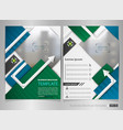 modern colorful business brochure template with vector image