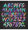 multicolored art alphabet and numbers vector image vector image