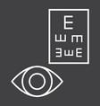 optometry line icon medicine and healthcare vector image