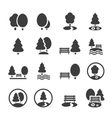 Park Icon Set Trees forest icons vector image vector image