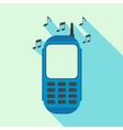Phone with music flat icon vector image