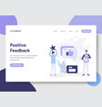 positive feedback concept vector image