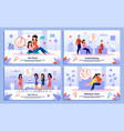 pregnant woman relations support posters vector image vector image