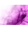 purple low poly abstract design vector image vector image