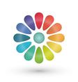 Rainbow flower balloon icons logo design vector image vector image