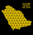 Saudi Arabia oil map Silhouette of desert maps of vector image vector image