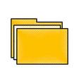 scribble folder cartoon vector image