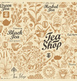 seamless background on theme tea vector image vector image