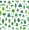 seamless pattern with different trees vector image vector image