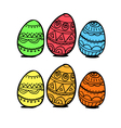 set eggs vector image vector image