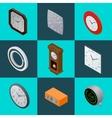 Set of elegant clocks Pendulum clock modern vector image
