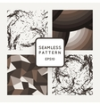Set of seamless patterns of polygons and vector image vector image