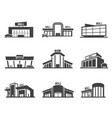 shopping mall or store icon set vector image vector image