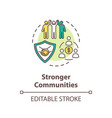 stronger community concept icon vector image