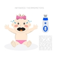 Temperature measurement baby vector image