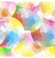 The pattern of multicolor mosaic circles vector image vector image