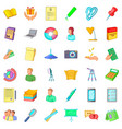 working space icons set cartoon style vector image vector image