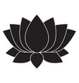 lotus flower blosson icon on white background vector image