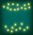 Christmas lights on cyan vector image