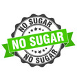 no sugar stamp sign seal vector image