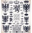 0000 heraldicset vector image vector image