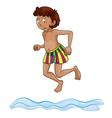a boy diving into water vector image vector image